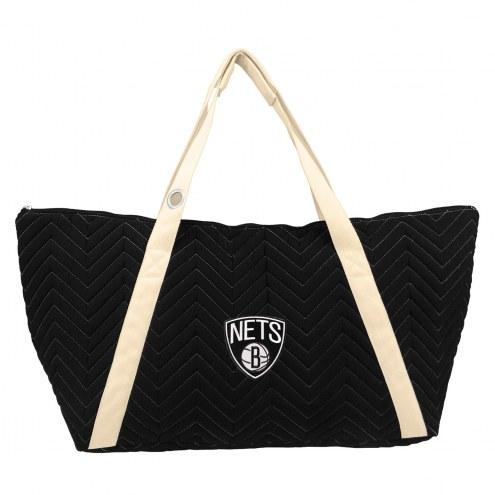Brooklyn Nets Chevron Stitch Weekender Bag
