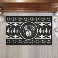 Brooklyn Nets Christmas Sweater Starter Rug