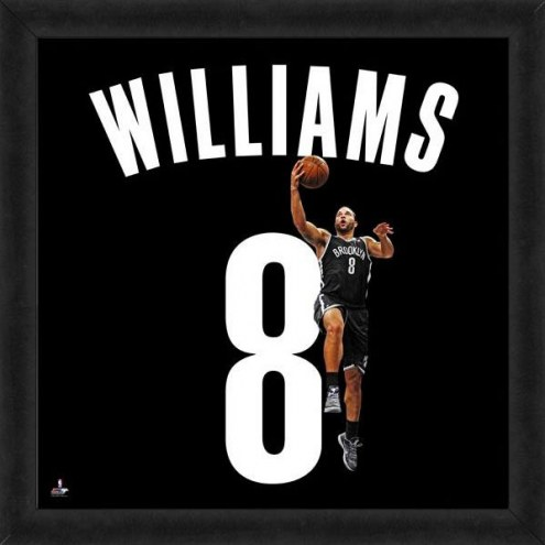 Brooklyn Nets Deron Williams Uniframe Framed Jersey Photo