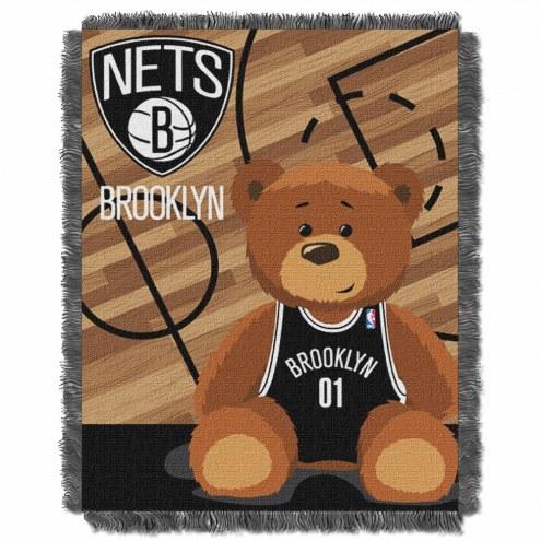Brooklyn Nets Half Court Baby Blanket