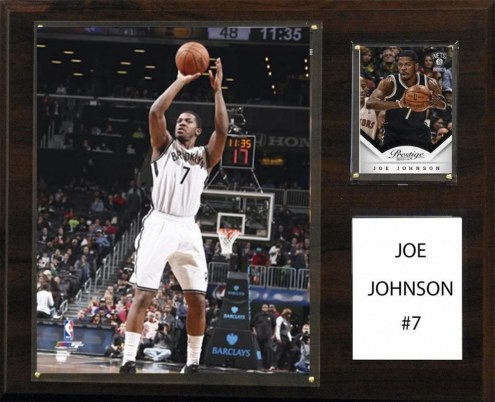 "Brooklyn Nets Joe Johnson 12"" x 15"" Player Plaque"
