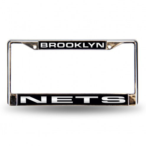 Brooklyn Nets Laser Chrome License Plate Frame