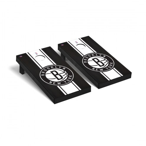 Brooklyn Nets Onyx Stained Cornhole Game Set