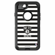 Brooklyn Nets OtterBox iPhone 8/7 Defender Stripes Case
