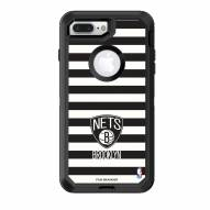 Brooklyn Nets OtterBox iPhone 8 Plus/7 Plus Defender Stripes Case