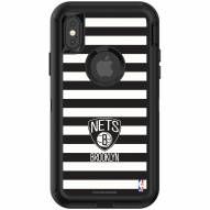 Brooklyn Nets OtterBox iPhone X/Xs Defender Stripes Case