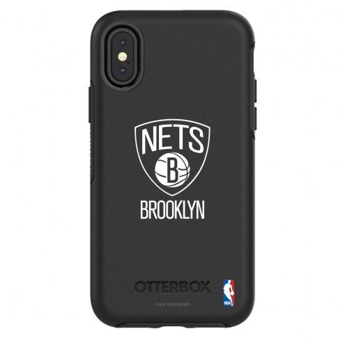 Brooklyn Nets OtterBox iPhone X/Xs Symmetry Black Case