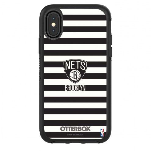 Brooklyn Nets OtterBox iPhone X/Xs Symmetry Stripes Case