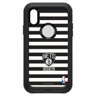Brooklyn Nets OtterBox iPhone XR Defender Stripes Case