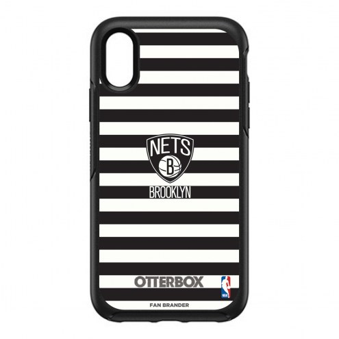Brooklyn Nets OtterBox iPhone XR Symmetry Stripes Case