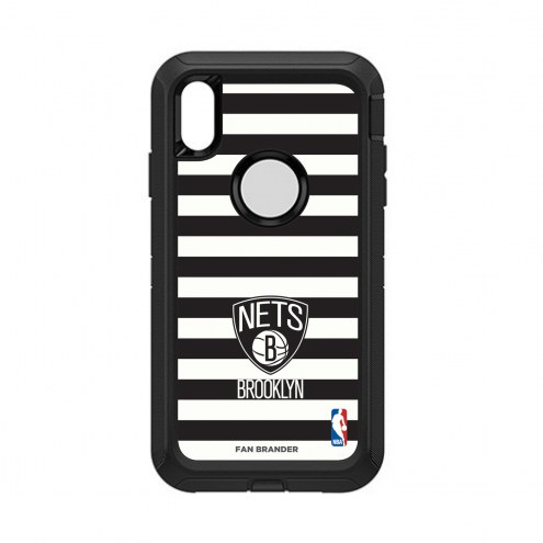 Brooklyn Nets OtterBox iPhone XS Max Defender Stripes Case