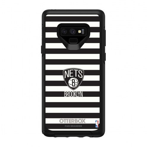 Brooklyn Nets OtterBox Samsung Galaxy Note9 Symmetry Stripes Case