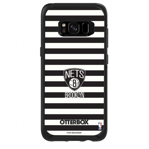 Brooklyn Nets OtterBox Samsung Galaxy S8 Symmetry Stripes Case
