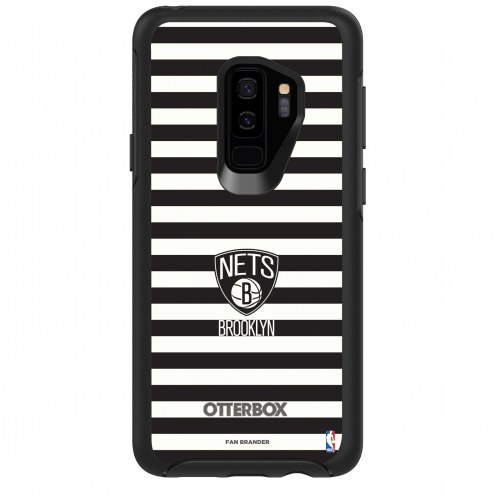Brooklyn Nets OtterBox Samsung Galaxy S9+ Symmetry Stripes Case