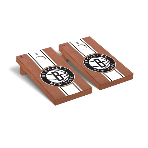 Brooklyn Nets Rosewood Stained Cornhole Game Set