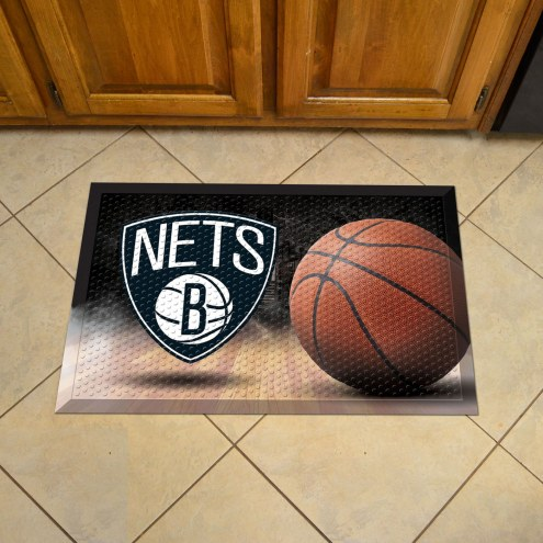 Brooklyn Nets Scraper Door Mat