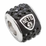 Brooklyn Nets Sterling Silver Charm Bead