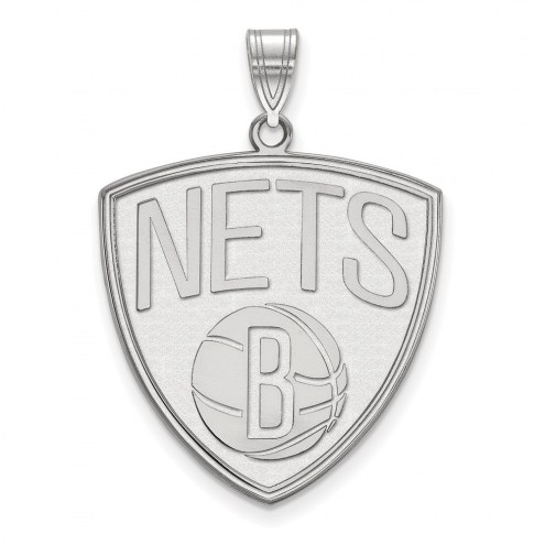 Brooklyn Nets Sterling Silver Extra Large Pendant