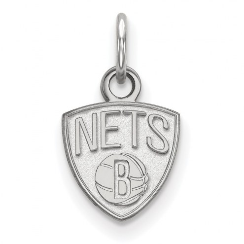 Brooklyn Nets Sterling Silver Extra Small Pendant