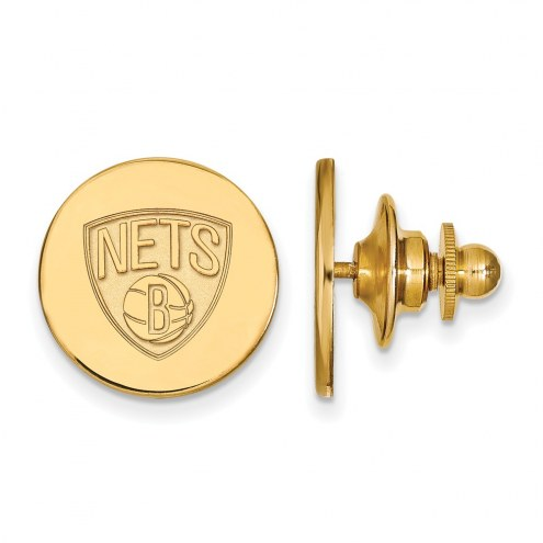 Brooklyn Nets Sterling Silver Gold Plated Lapel Pin