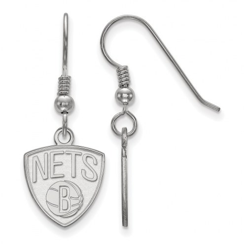 Brooklyn Nets Sterling Silver Small Dangle Earrings