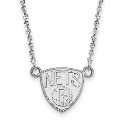 Brooklyn Nets Sterling Silver Small Pendant Necklace