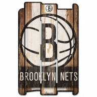 Brooklyn Nets Wood Fence Sign