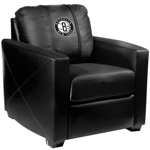 Brooklyn Nets XZipit Silver Club Chair with Secondary Logo