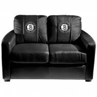 Brooklyn Nets XZipit Silver Loveseat with Secondary Logo