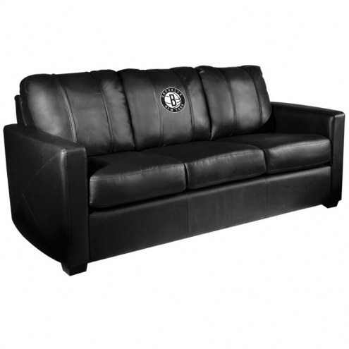 Brooklyn Nets XZipit Silver Sofa with Secondary Logo