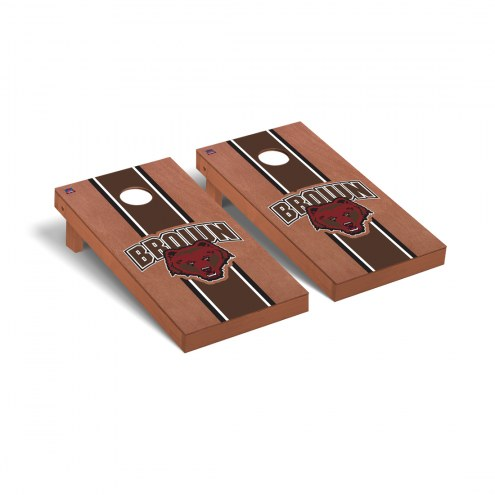 Brown Bears Rosewood Stained Stripe Cornhole Game Set