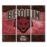 Brown Bears Triptych Double Border Canvas Wall Art