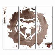 Brown Bears Triptych Watercolor Canvas Wall Art