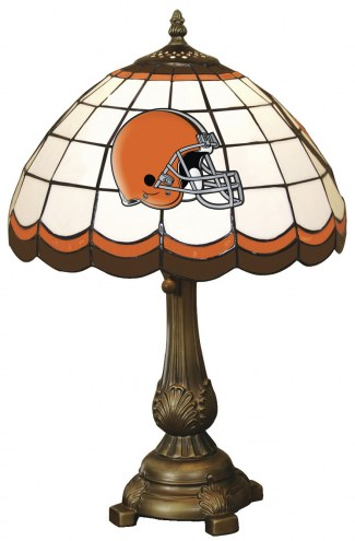 Cleveland Browns NFL Stained Glass Table Lamp