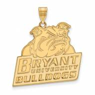 Bryant Bulldogs Sterling Silver Gold Plated Extra Large Pendant
