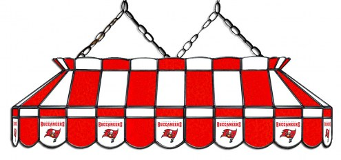 "Tampa Bay Buccaneers NFL Team 40"" Rectangular Stained Glass Shade"