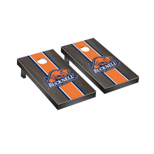 Bucknell Bison Onyx Stained Cornhole Game Set