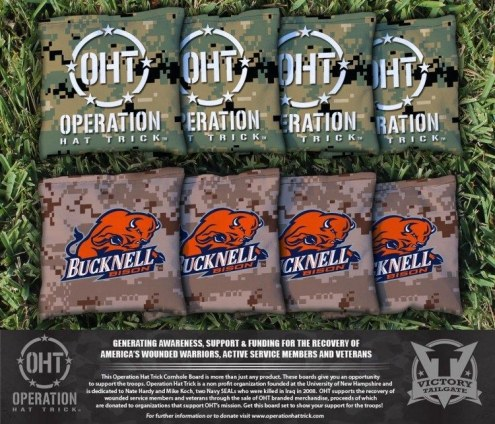 Bucknell Bison Operation Hat Trick Cornhole Bag Set