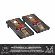 Bucknell Bison Operation Hat Trick Onyx Stained Cornhole Game Set
