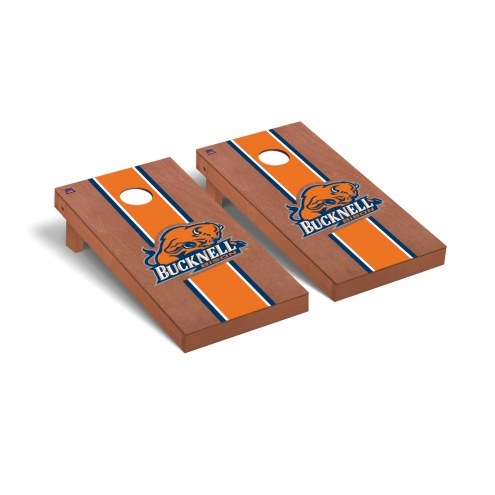 Bucknell Bison Rosewood Stained Cornhole Game Set
