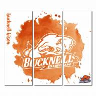 Bucknell Bison Triptych Watercolor Canvas Wall Art