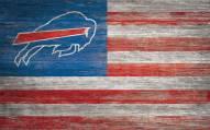 "Buffalo Bills 11"" x 19"" Distressed Flag Sign"