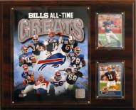 """Buffalo Bills 12"""" x 15"""" All-Time Great Plaque"""
