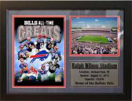 "Buffalo Bills 12"" x 18"" Greats Photo Stat Frame"