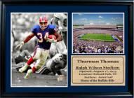 "Buffalo Bills 12"" x 18"" Thurman Thomas Photo Stat Frame"