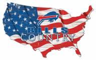 "Buffalo Bills 15"" USA Flag Cutout Sign"