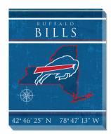 "Buffalo Bills 16"" x 20"" Coordinates Canvas Print"