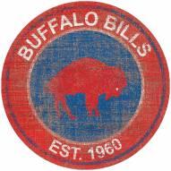 "Buffalo Bills 24"" Heritage Logo Round Sign"