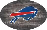 "Buffalo Bills 46"" Distressed Wood Oval Sign"