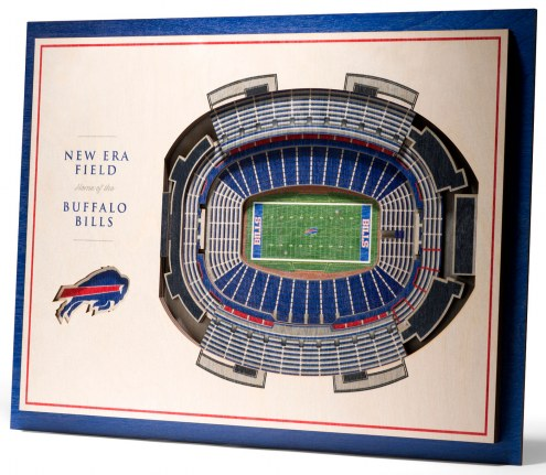 Buffalo Bills 5-Layer StadiumViews 3D Wall Art